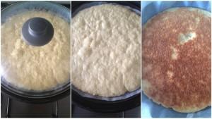 base torta cotta in padella