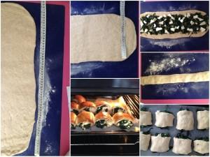 focaccine semi dolci con cicoria e pecorino