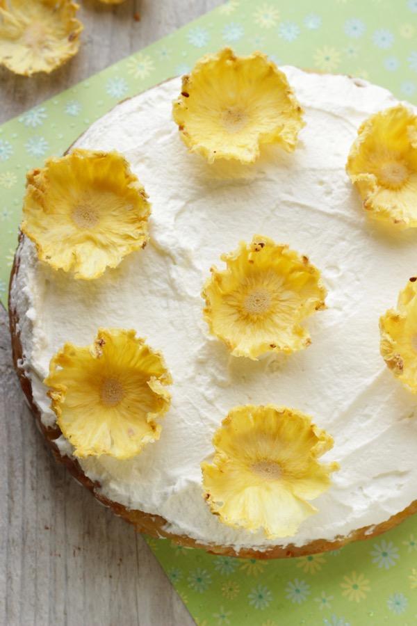torta all'ananas rovesciata