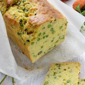 Cake salato con piselli pecorino e menta
