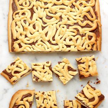 Quadrotti di crostata con nutella