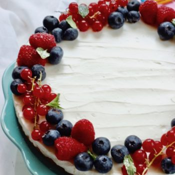 Cheesecake allo yogurt con frutti di bosco
