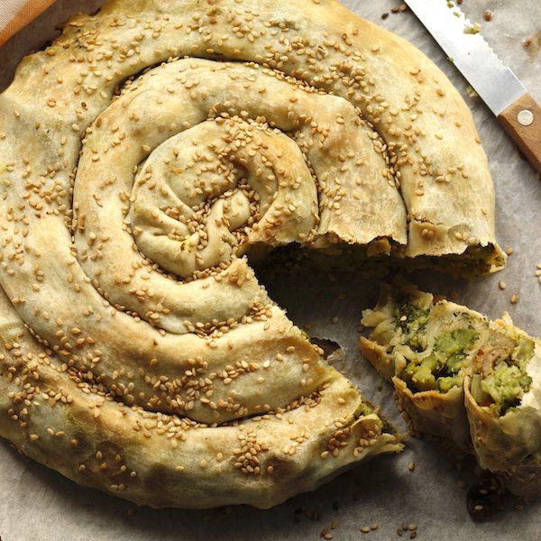 Torta salata con broccoli e olive