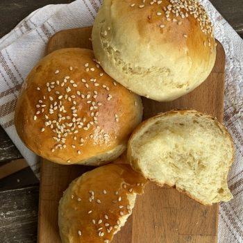 Burger buns con olio extravergine di oliva