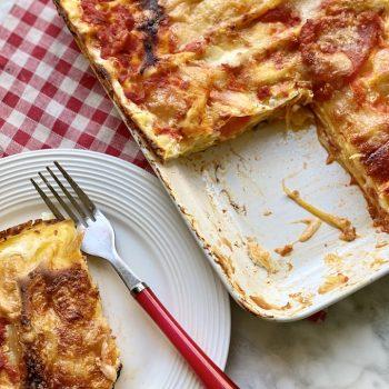 Lasagne con ricotta e pomodoro fresco