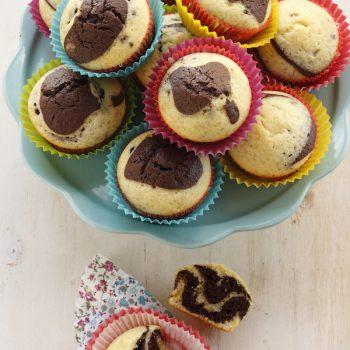 Muffin bicolor vaniglia e cioccolato