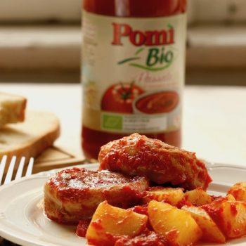 Filetto di maiale con paprika bacon e pomodoro
