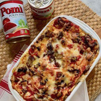 Lasagne di pane azzimo e verdure