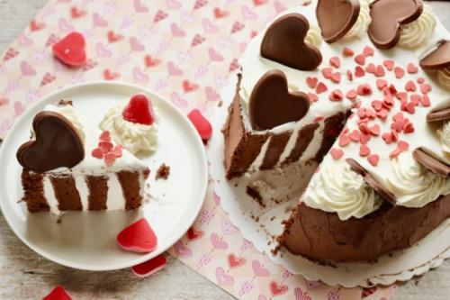 Torta di San Valentino prova del cuoco