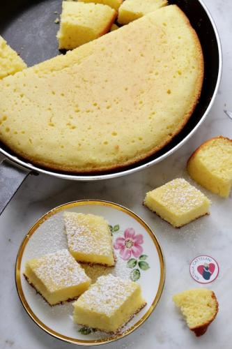 Base torta in padella allo yogurt e limone