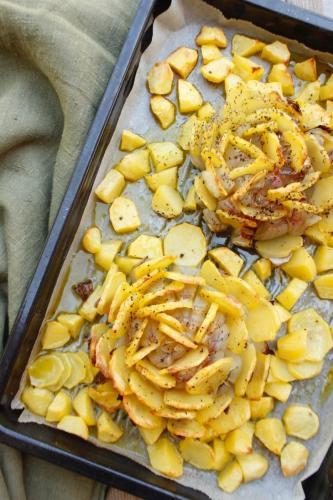 Fior di cipolla con patate pronto!
