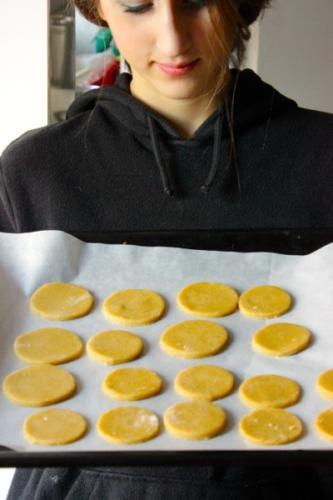 metteteli su un foglio di carta da forno e fateli cuocere a 170 gradi per 15 minuti