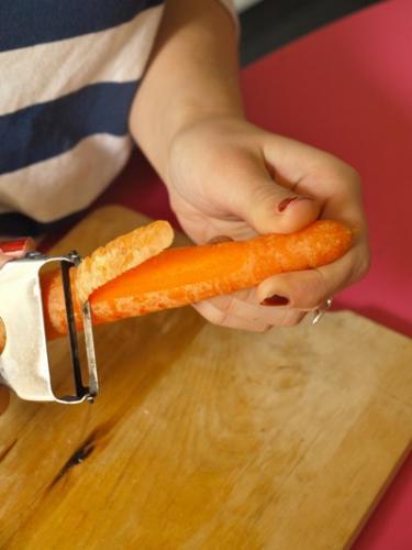 sbucciate le carote