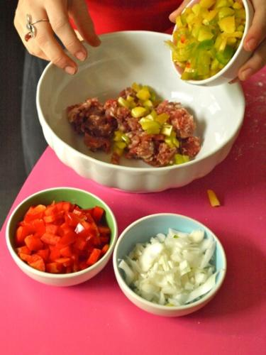 mescolate carne e verdure