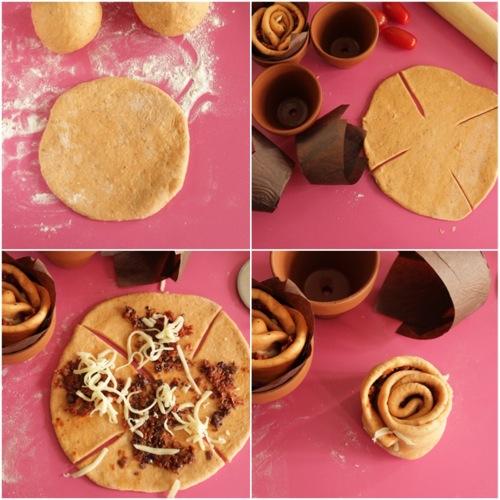 preparate i pirottini con la carta da forno ritagliando dei quadrati che infilerete dentro al vasetto aiutandovi nel dare la forma inserendone un altro