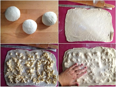 Torta sfogliata con formaggio primo sale spinaci e pomodorini secchi